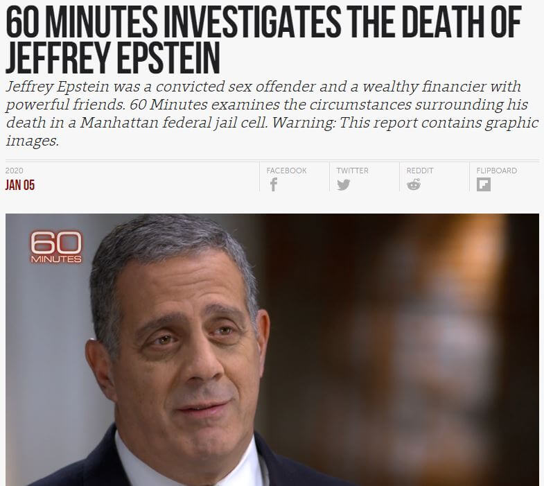 Headline and image of Bruce Barket on 60 Minutes