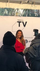 Aida Leisenring on the red carpet